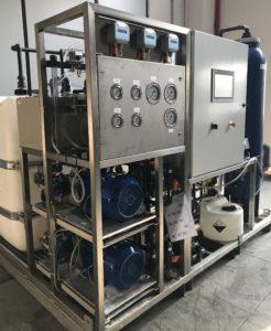 Impianto Exxro realizzato per il trattamento delle acque cariche di solventi da processo di verniciatura