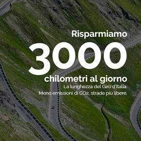Risparmiamo 3000 chilometri al giorno